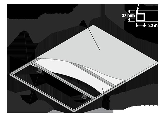 pannello specchiopiuma disegno tecnico 2